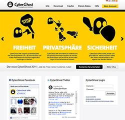 CyberGhost Webseite